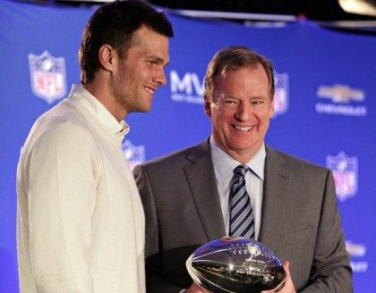 Tom Brady and Roger Goodell AP
