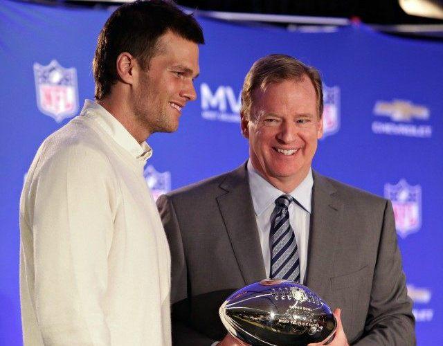 Tom Brady and Roger Goodell AP