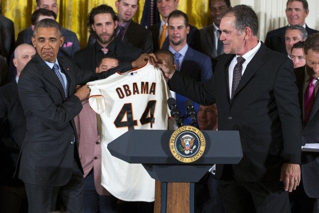 Barack Obama, Bruce Bochy