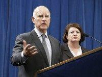 Jerry Brown, Kevin de Leon, Loni Atkins