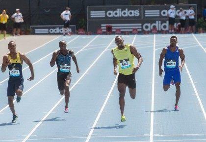 Usain Bolt, Julian Forte, Alonso Edward, Rasheed Dwyer