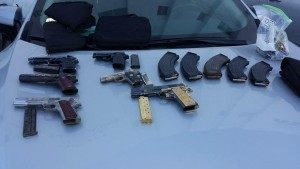 Weapons seized during raid