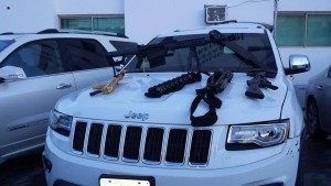 Gulf Cartel armored vehicles and weapons