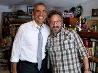 President Barack Obama participates in a podcast with Marc Maron in Los Angeles, Calif., June 19, 2015.
