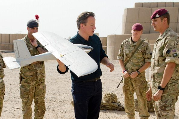 British Prime Minister David Cameron Visits Troops In Afghanistan