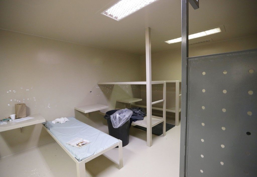 Waller County jail cell where Sandra Bland committed suicide. (AP Photo/Pat Sullivan)