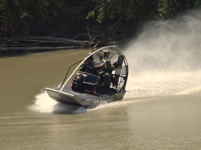 Border Patrol Agents on patrol on the Rio Grande River near Laredo. (Photo: Breitbart Texas/Bob Price)