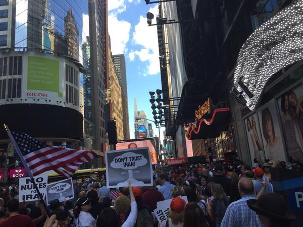 Times Square Iran Rally (Jonathan Margulis / Twitter)