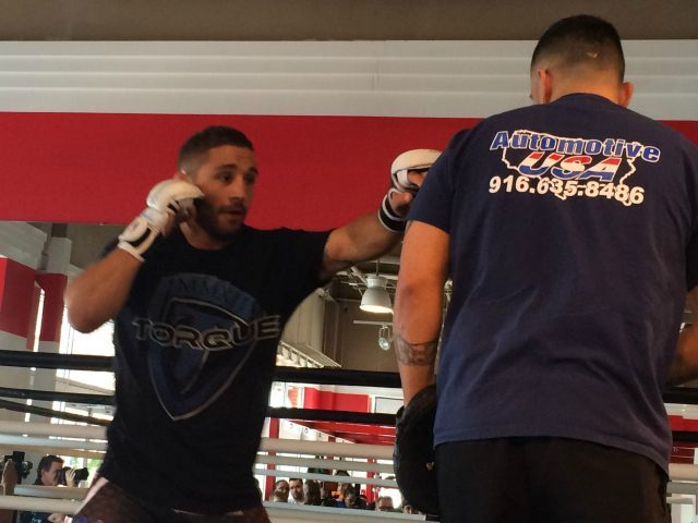 Chad Mendes in Fairfax April 2015