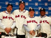 Craig Biggio, Randy Johnson, Pedro Martinez, and John Smoltz Getty