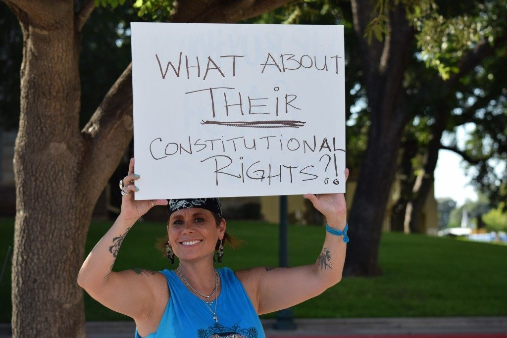 """""""Their Constitutional Rights"""" (Photo: Breitbart Texas/Lana Shadwick)"""