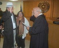 Starr County Justice of the Peace Salvador Zarate is sworn in for another term on January 1, 2015