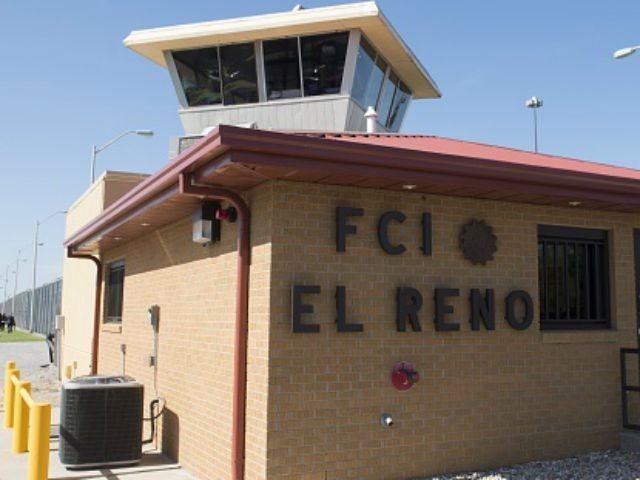 The entrance to El Reno Federal Correctional Institution in El Reno, Oklahoma, July 16, 2015, as US President Barack Obama arrives for a visit. Obama is the first sitting US President to visit a federal prison, in a push to reform one of the most expensive and crowded prison systems …
