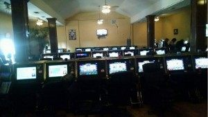 Authoriteis caught approximatley 100 persons gabling inside this former church has been turned into an underground casino near the Texas border