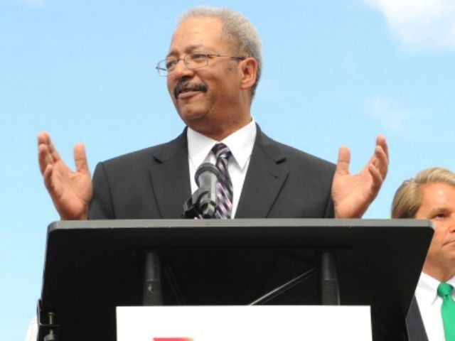 U.S. Congressman Chaka Fattah attends the Launch of Virgin America's First Flight from Los Angeles to Philadelphia on the tarmac of Phildelphia International Airport on April 4, 2012 in Philadelphia, Pennsylvania.