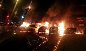 Car burnings bastille Le Figaro