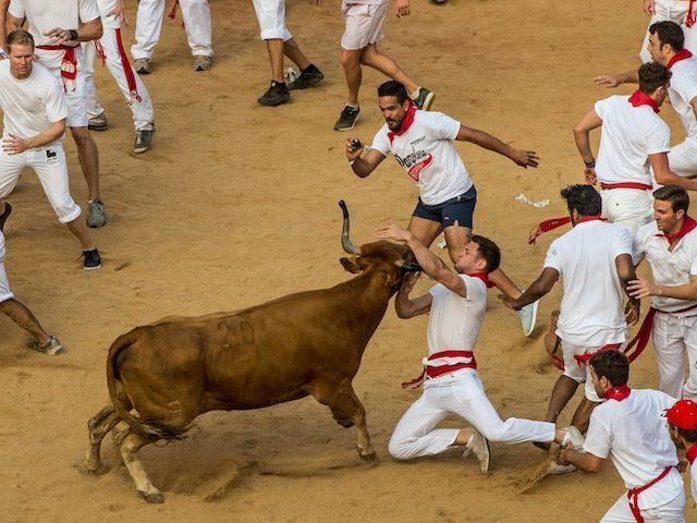 Spanish Bull Run 2015 Running of The Bulls 2015