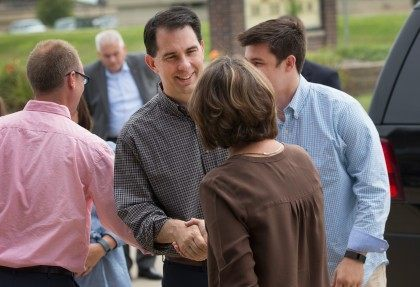 Scott Walker Attends Church Service In Iowa