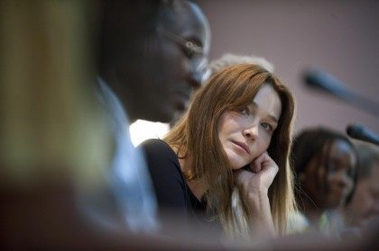 French first Lady Carla Bruni-Sarkozy at
