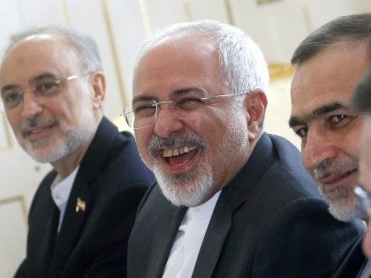 Javad Zarif laughs at you (Carlos Barria / AFP / Getty)