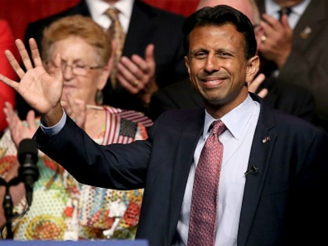 Louisiana Governor Bobby Jindal announces his candidacy for the 2016 Presidential nomination during a rally a he Pontchartrain Center on June 24, 2015 in Kenner, Louisiana. (Photo by