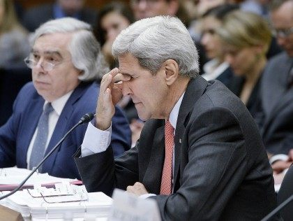 John Kerry exasperated (Olivier Douliery / Getty)