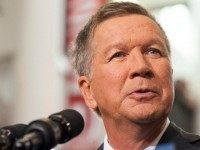 Ohio Governor John Kasich gives his speech announcing his 2016 Presidential candidacy at the Ohio Student Union, at The Ohio State University on July 21, 2016 in Columbus, Ohio. Kasich became the 16th candidate to officially enter the race for the Republican presidential nomination.