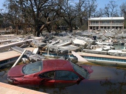 Katrina Car in Pool (Barry Williams / Getty)