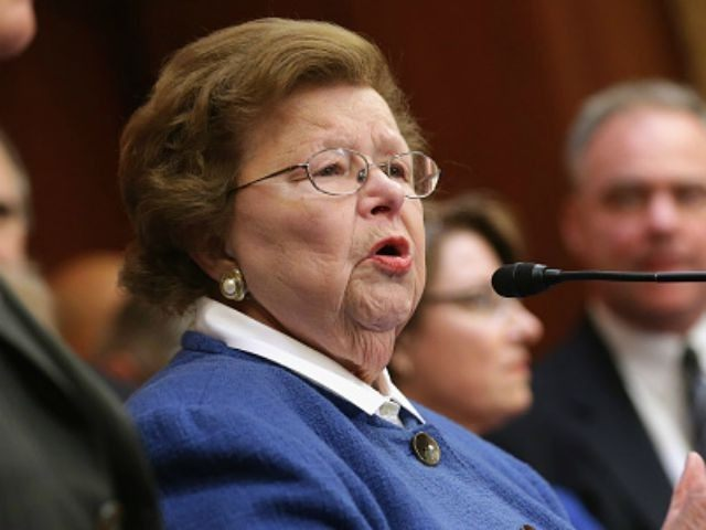 Appropriations Committee ranking member Sen. Barbara Mikulski (D-MD)