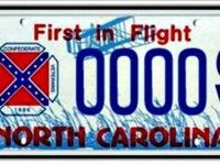 North Carolina Confederate License Plate AP