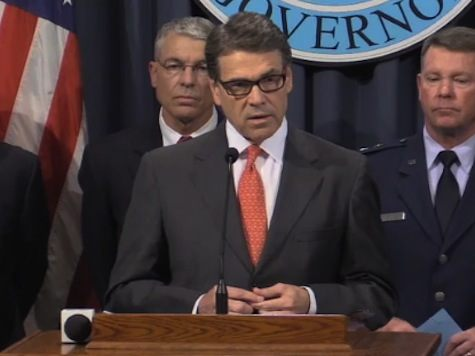 Then Governor Rick Perry announces National Guard Deployment. Photo: Video Screenshot.