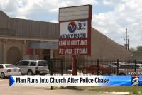 Police Chase Church Break-in