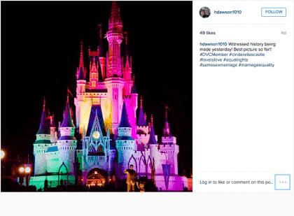Disney Gay Pride (Screenshot / Instagram / Heather Protich)