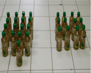 Liquid meth seized by the Mexican military en route to the Texas border