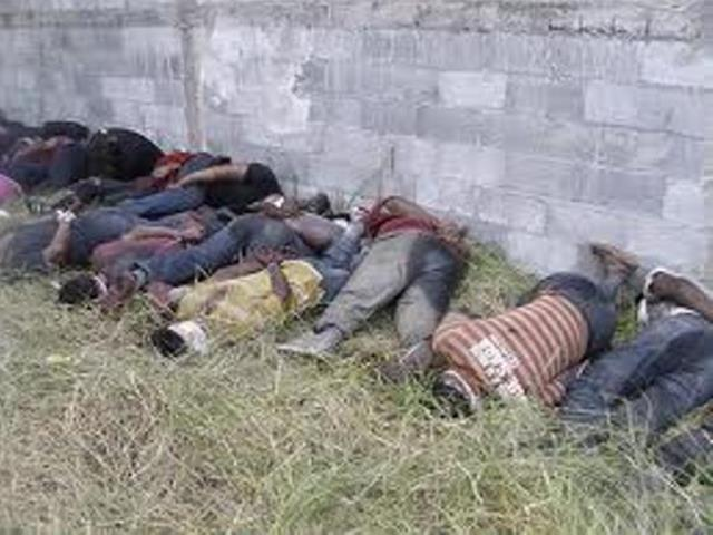 Scene of massacre Central and South American immigrants by Los Zetas cartel members in Tamaulipas. (Photo courtesy: Office of the Attorney General of Mexico)