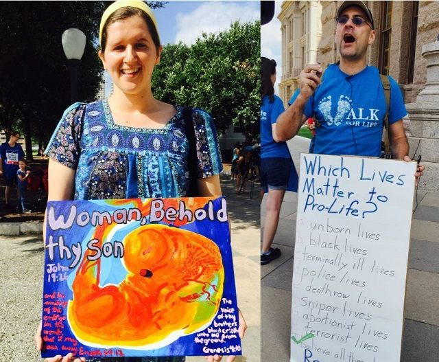 Pro-Life activists carrying their message of Life to the Texas Capitol. (File Photo: Breitbart Texas/Lana Shadwick)