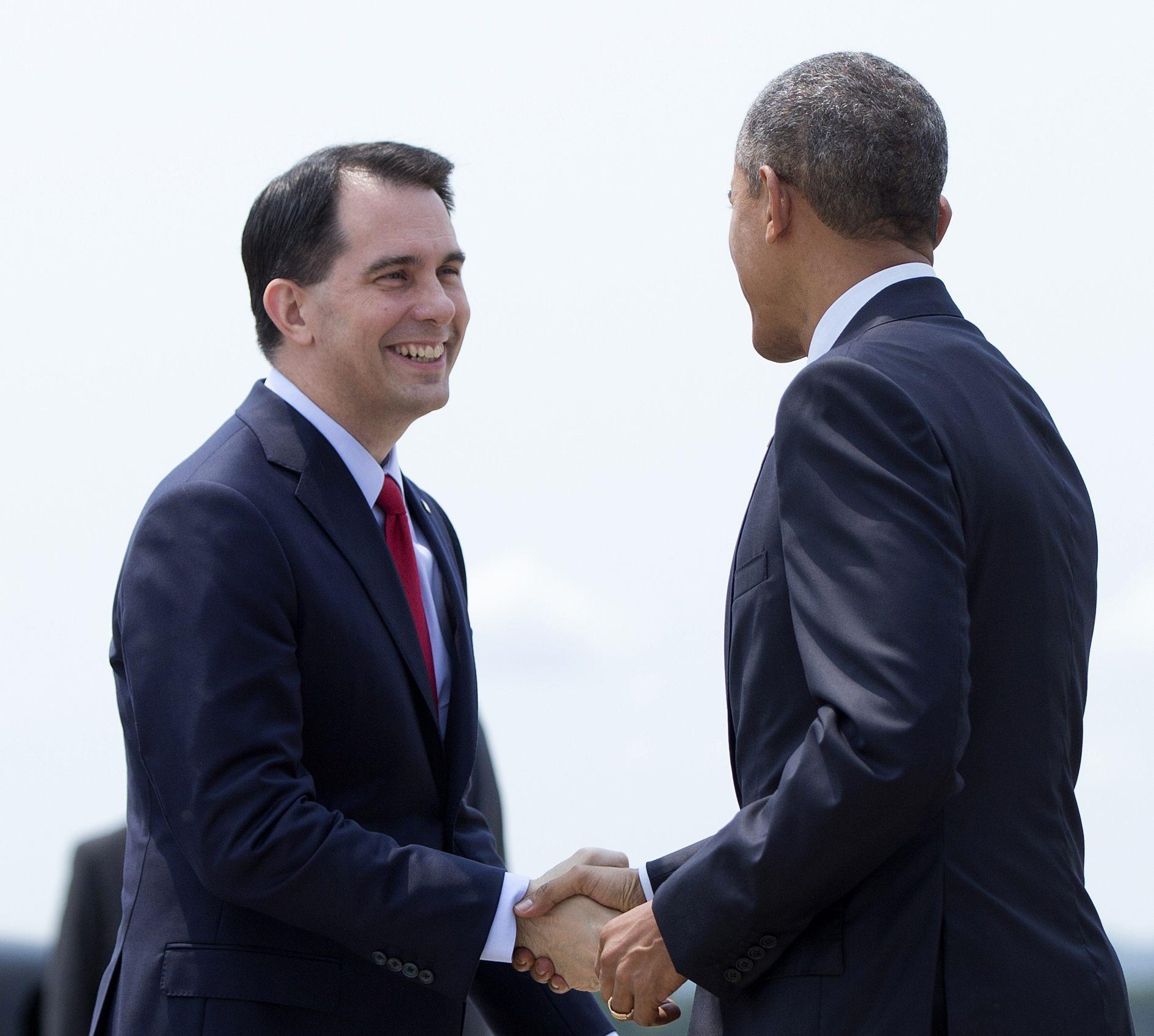 Barack Obama, Scott Walker