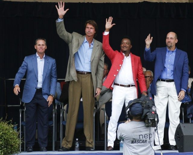 Craig Biggio,Randy Johnson,Pedro Martinez,John Smoltz