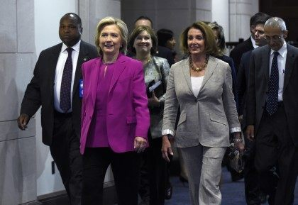 Hillary Rodham Clinton, Nancy Pelosi