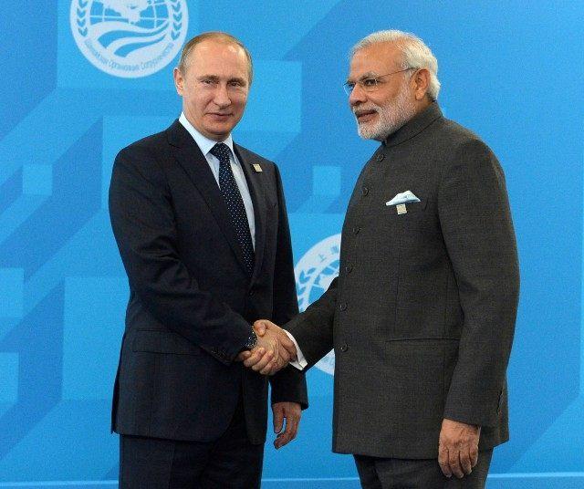 Vladimir Putin, Narendra Modi,