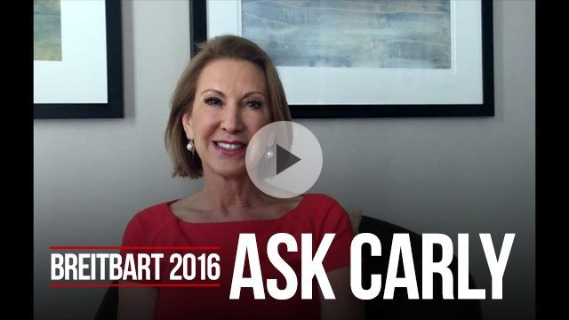 Carly Fiorina answers questions from Breitbart readers