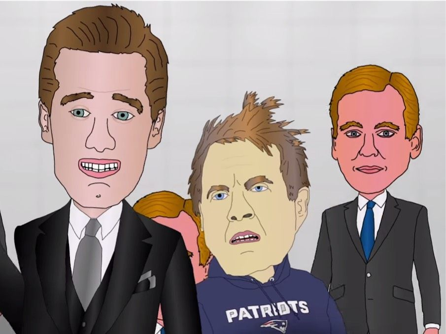 Watch: Animated Short Depicts Brady, Belichick vs Goodell in Deflate-Gate