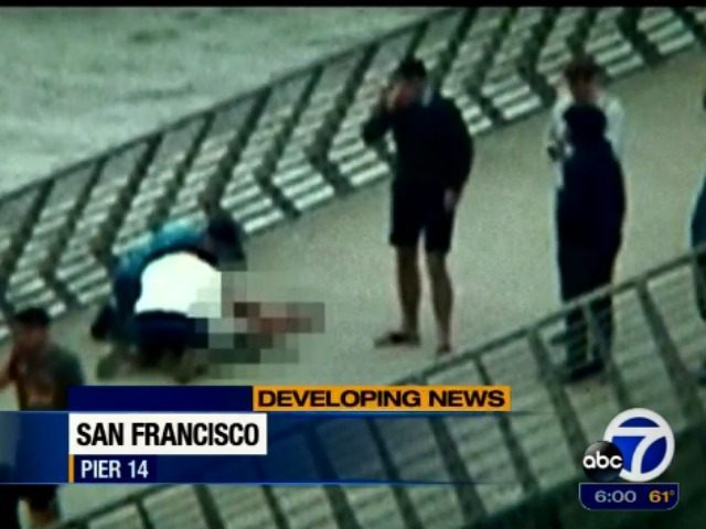 effort to revive shooting victim on pier