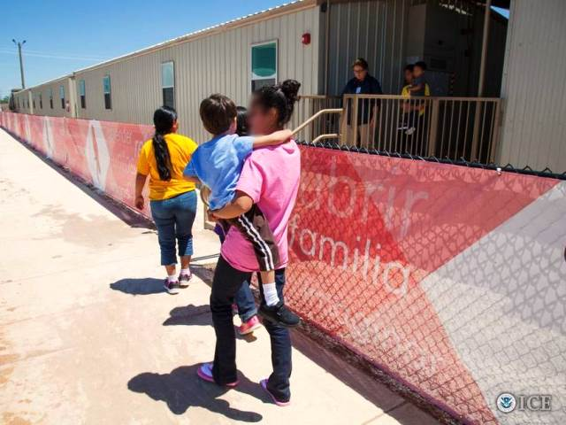 Families being detained at the CCA South Texas Family Residential Center (Photo: ICE.gov)