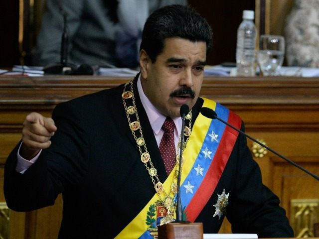 Venezuelan President Nicolas Maduro delivers a speech at the National Assembly in Caracas on July 6, 2015. Maduro called his ambassador to Guyana, Reina Arratia, for consultations Monday, after reporting an alleged plan to create a conflict with the Caribbean countries following a border dispute. AFP PHOTO / FEDERICO PARRA …