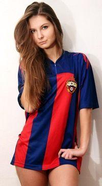 Kuzkova in her CSKA Moscow Shirt