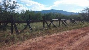 Border fence in Arizona