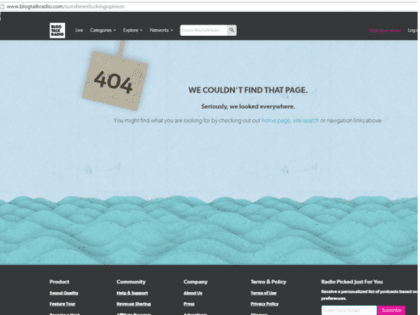 404 error sunshine not found