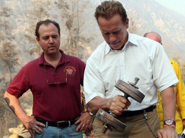 Adam Schiff and Schwarzenegger (Justin Sullivan / Getty)