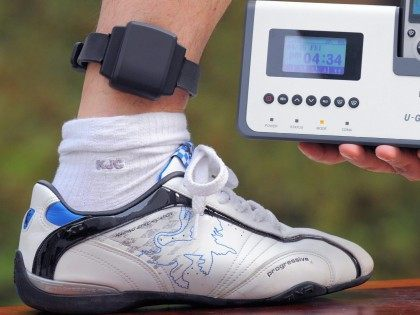 Ankle monitor bracelet (Kim Jae-Hwan / AFP / Getty)
